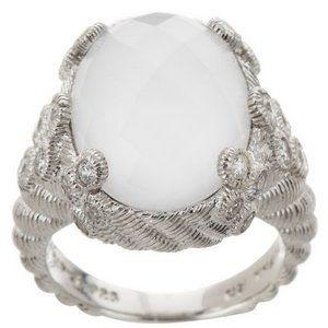 Judith Ripka Flora Diamonique & Oval Doublet Ring